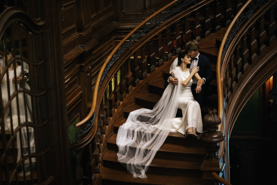 schody w Palacu Goetz
