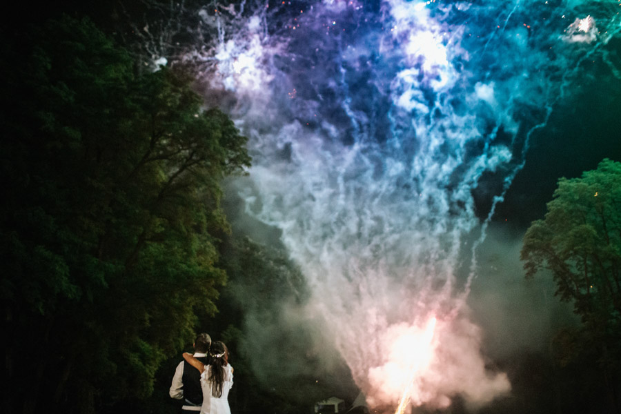 fajerwerki na wesele